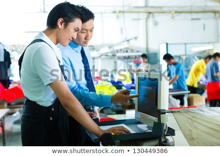 Foreman, Manager and shift supervisor in factory Stock photo © Kzenon