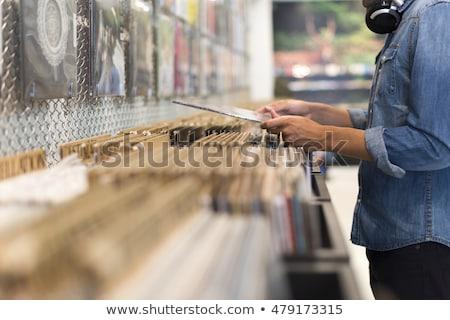 ビニール · レコード · コレクション · 異なる · ラベル - ストックフォト © sirylok
