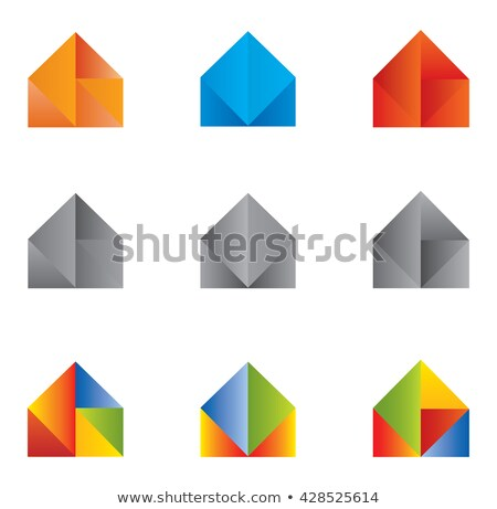 abstract multiple home icon set Stock photo © pathakdesigner
