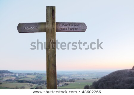 Footpath sign for the Cotswold Way, Cotswold, England Stock photo © jayfish