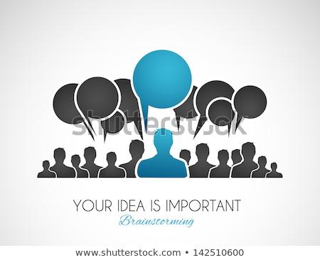 Wereldwijd social media communicatie leider vector business Stockfoto © burakowski