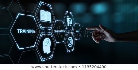 training and development on digital background stock photo © tashatuvango