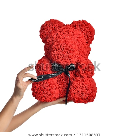 beautiful woman holding red rose Stock photo © Rob_Stark