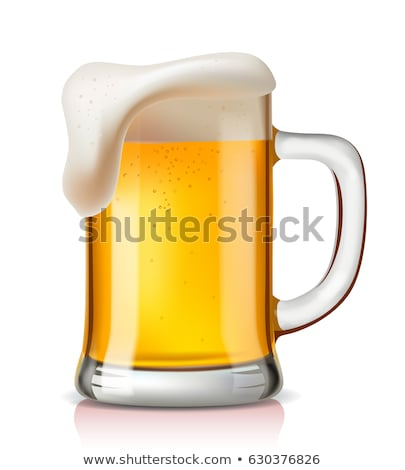 mug of beer with foam Stock photo © heliburcka