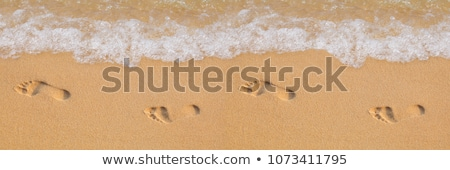 human footstep in the sand of the beach Stock photo © meinzahn