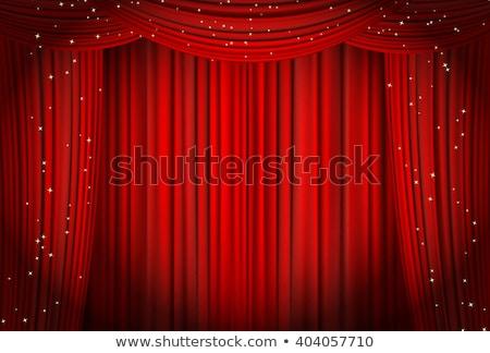 czerwony · kurtyny · star · film · teatr · kina - zdjęcia stock © burakowski