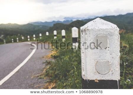 Road Marking On Arrow Shows Direction Or Upward Stock photo © stuartmiles