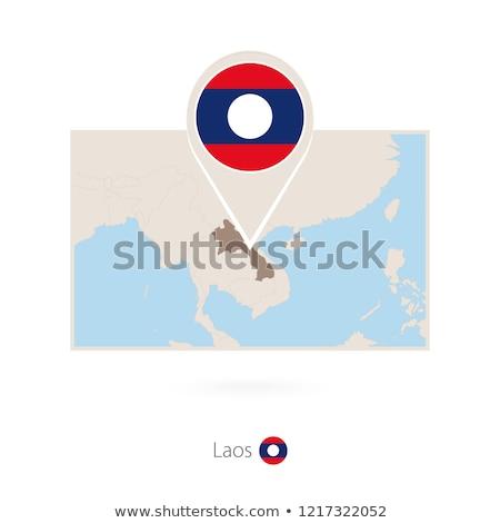 Laos vlag icon geïsoleerd witte internet Stockfoto © zeffss