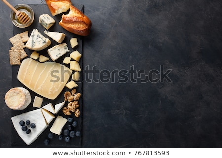 Cheese with black mold on the plate. View from above. Stock photo © RuslanOmega