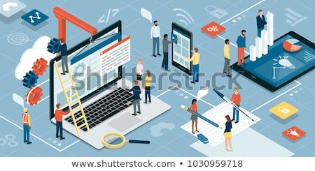 website layout design on laptop Stock photo © PixelsAway