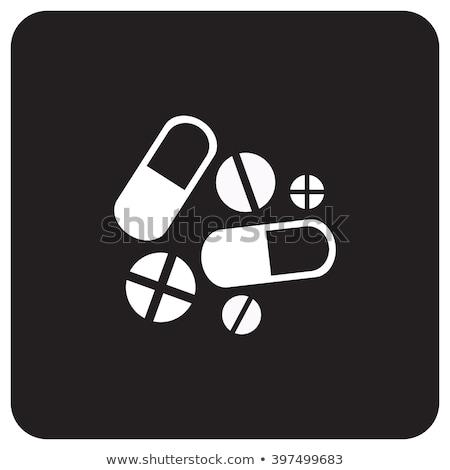 függőség · ikonok · kör · számítógép · vásárlás · gyógyszer - stock fotó © glorcza