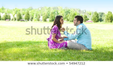 loving couple share a tender moment stock photo © stryjek