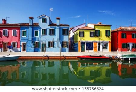 színes · házak · Olaszország · panoráma · épület · festék - stock fotó © deyangeorgiev