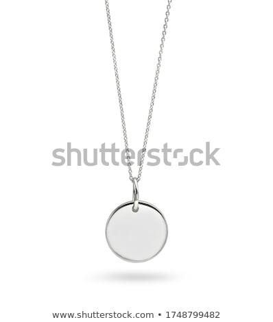 altın · gümüş · zincir · takı · kalp · siyah - stok fotoğraf © konturvid