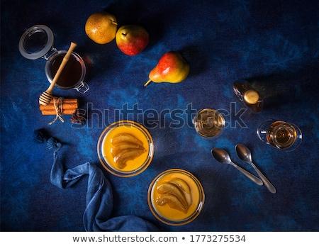 Peer tabel witte vruchten kunst groene Stockfoto © Johny87