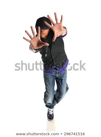 handsome guy with hand on hips stock photo © stockyimages