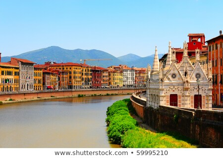 Embankment of the River Arno in the Italian City of Pisa Stock photo © Dserra1