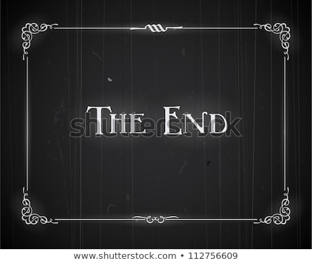 the end Movie ending screen Stock photo © kiddaikiddee