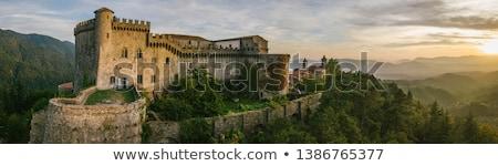 古い イタリア語 城 写真 山 空 ストックフォト © Dermot68