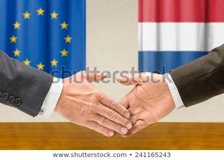 Ue Países Bajos mano negocios manos éxito Foto stock © Zerbor
