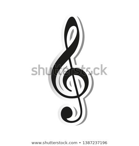 caz · orkestra · müzikal · kalp · komik · karikatür - stok fotoğraf © lienchen020_2