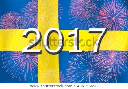 Vlag brandend Zweden oorlog crisis brand Stockfoto © michaklootwijk