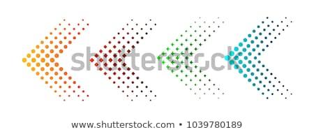 Szín vektor nyilak szett papír kéz Stock fotó © slunicko
