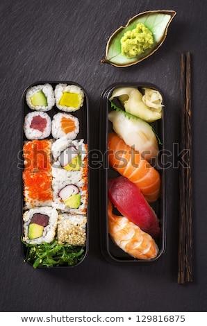 Salata sushi rulo taze sağlıklı Stok fotoğraf © fotogal