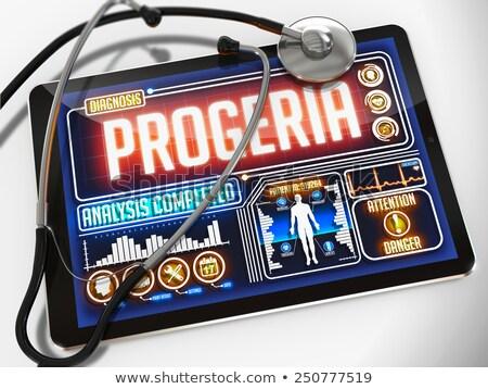 invecchiamento · display · medici · tablet · diagnosi · nero - foto d'archivio © tashatuvango