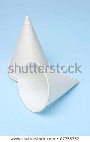 одноразовый · бумаги · изолированный · белый · воды - Сток-фото © dezign56