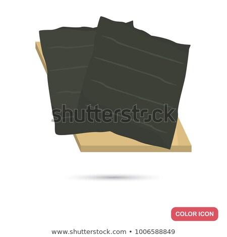stuffing on the nori sheet  Stock photo © OleksandrO