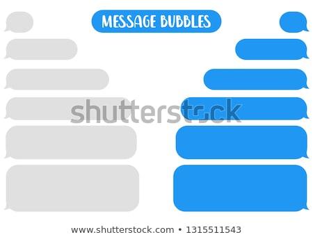 üzenet buborékok chat szöveg ikon vektor Stock fotó © Dxinerz