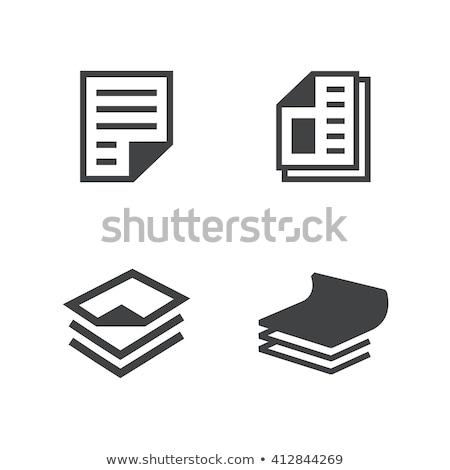 Paper icons Stock photo © padrinan