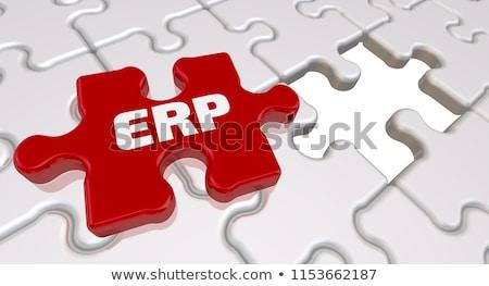 crm   white word on red puzzles stock photo © tashatuvango