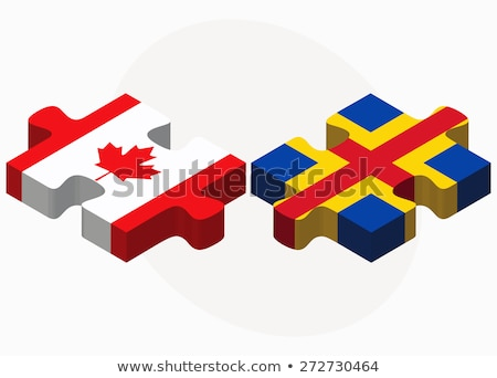 Canada and Aaland Islands Flags in puzzle Stock photo © Istanbul2009