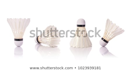 shuttlecock isolated on white Stock photo © ozaiachin