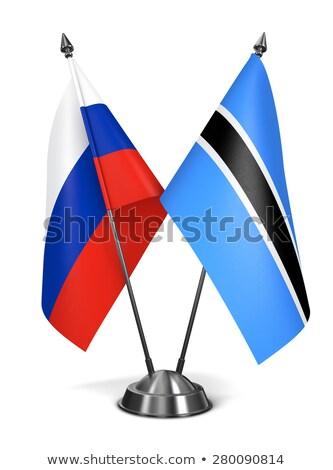 Rusland Botswana miniatuur vlaggen geïsoleerd witte Stockfoto © tashatuvango