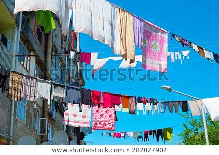 Typical drying clothes, Georgia Stock photo © joyr