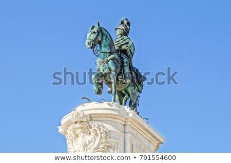 commerce · vierkante · Lissabon · Portugal · landschap · Blauw - stockfoto © neirfy