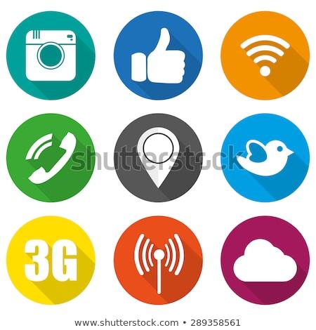 social internet blue vector button icon design set stock photo © rizwanali3d