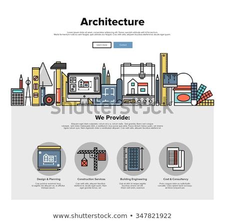 manutenzione · blueprint · tecnica · disegno · stile - foto d'archivio © tashatuvango