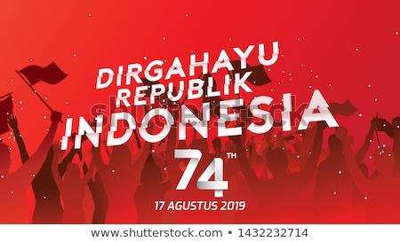 Indonesio día hombre país bandera celebración Foto stock © tujuh17belas