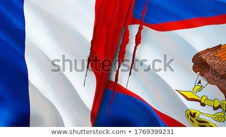 França Samoa Americana bandeiras quebra-cabeça isolado branco Foto stock © Istanbul2009