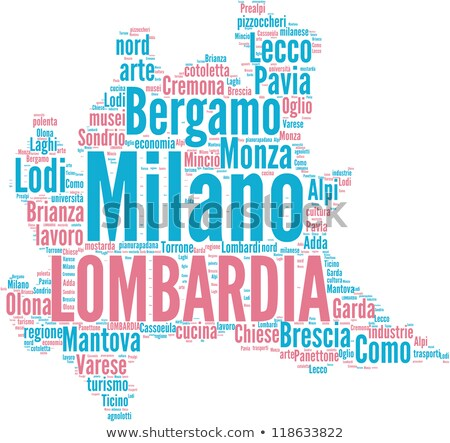 Map of Italy, Lodi Stock photo © Istanbul2009