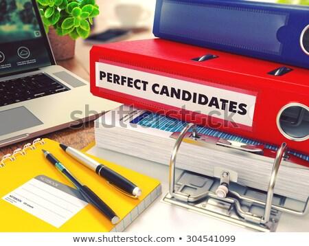 candidates on ring binder blured toned image stock photo © tashatuvango