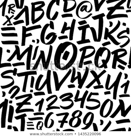 Hand Drawn Lowercase Letters Seamless Pattern Stock photo © Voysla