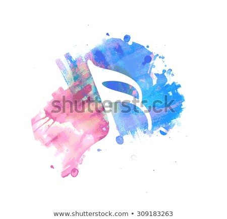 Music Notes Pink Vector Button Icon Stock photo © rizwanali3d