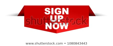 Sign Up Yellow Vector Icon Button stock photo © rizwanali3d