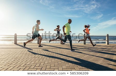 Man lopen strand Seattle Washington Stockfoto © HdcPhoto