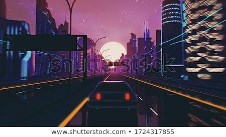 Város zene lemez alatt hangjegyek kő Stock fotó © Bigalbaloo